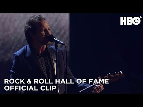 Rock and Roll Hall of Fame Induction Ceremony 2017: Pearl Jam Performs Better Man HBO