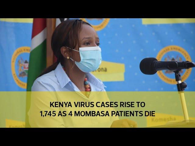Kenya virus cases rise to 1,745 as 4 Mombasa patients die