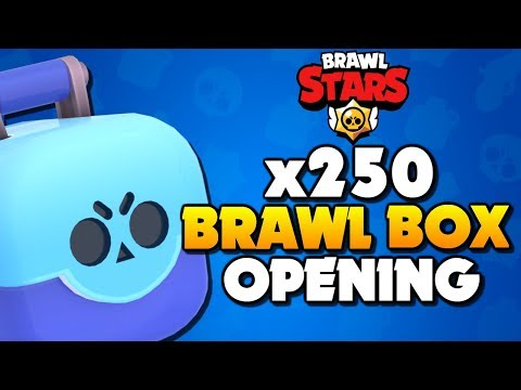 x250 BRAWL BOX OPENING - What is the Legendary Drop Rate in Brawl Stars!