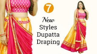 7 New Styles Of Dupatta Draping - How To Wear Lehenga Perfectly | Shruti Arjun Anand