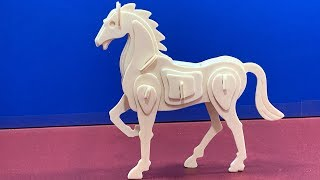 Hands Craft DIY 3D Wooden Puzzle HORSE