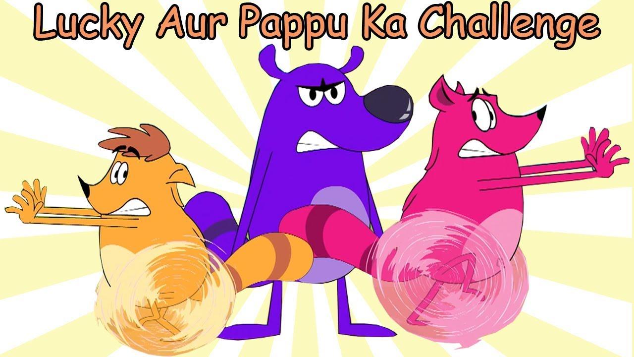 Lucky Aur Pappu Ka Challenge Ep - 86 - Pyaar Mohabbat Happy Lucky - Hindi  Cartoon Show - Zee Kids