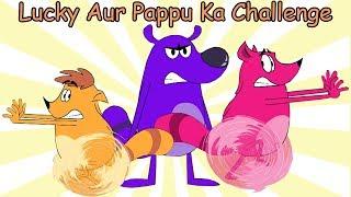 Pyaar Mohabbat Happy Lucky - Ep.86 | Lucky Aur Pappu Ka Challenge | Hindi Animated Cartoon Show