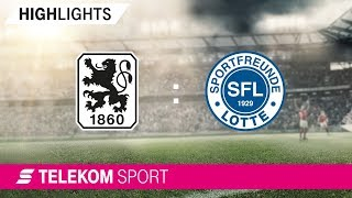 TSV 1860 München - Sportfreunde Lotte | Spieltag 2, 18/19 | Telekom Sport