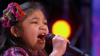 Stuns the Crowd With Her Powerful Voice - Americas Got Talent 2017