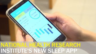 Health research institute creates app to track sleeping habits | Taiwan News | RTI