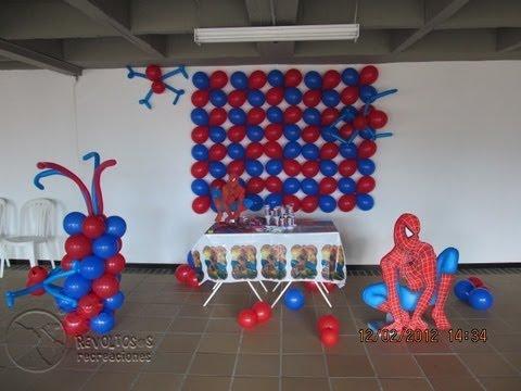 Decoracion Fiesta Tematica Hombre Araña Spiderman