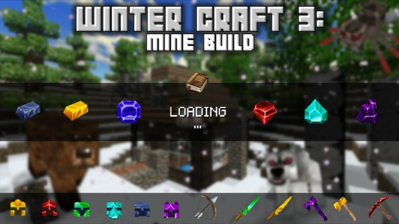 Winter Craft 3 Mine Build Gameplay (Android) - YouTube