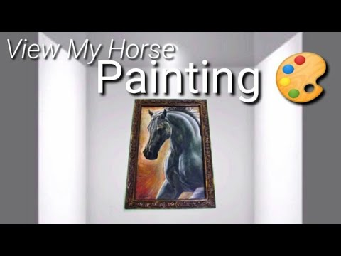View My Horse Painting while listening to Relaxing Music