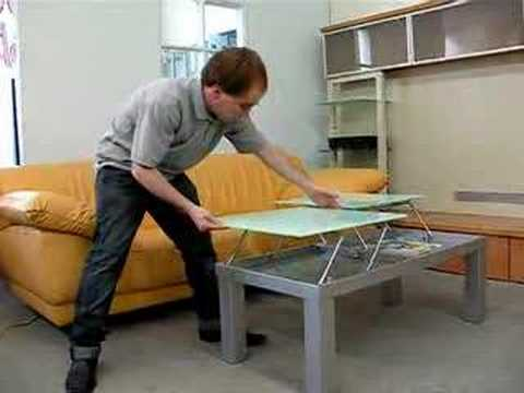 Valencia adjustable height coffee table youtube - How tall should a coffee table be ...