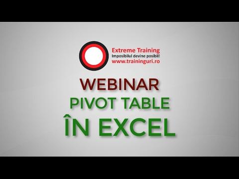 Pivot Table in excel - Webinar!