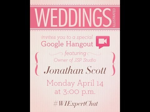 Weddings Illustrated Expert Chat with Jonathan of JSP Studio