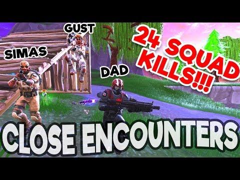 24 KILLS In FORTNITE CLOSE ENCOUNTERS BLOX4FUN SQUAD!!!