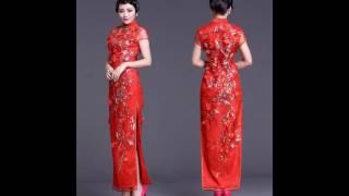 flowered cheongsam traditional shanghai china dress