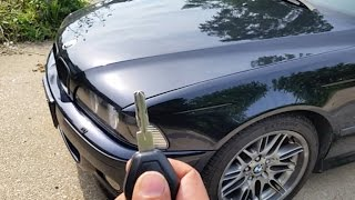 BMW e39 5 series How to open hood with no tools in 30sec when cable is broken EZ DIY