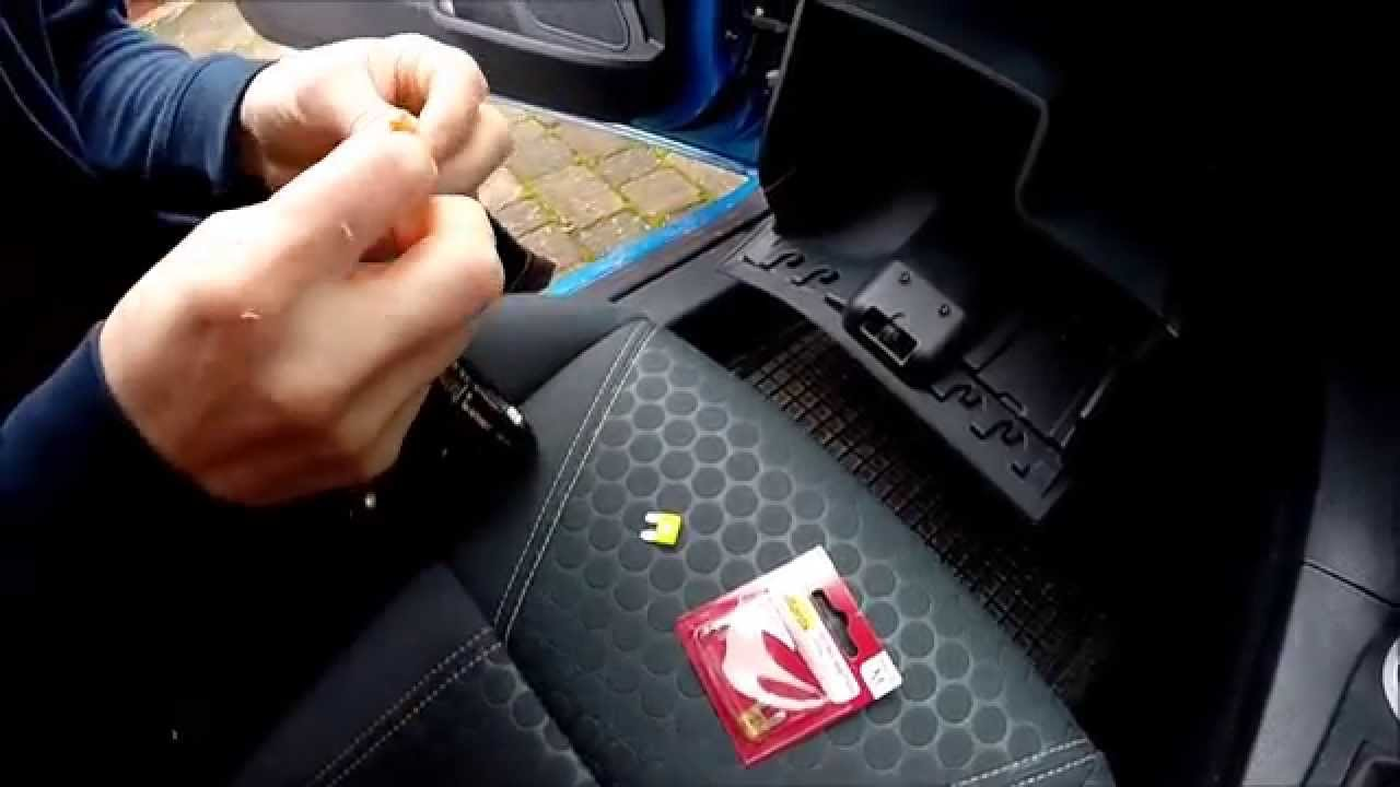 changing a cigarette lighter fuse on a 09 Ford Fiesta  YouTube