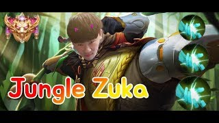 《ahq Rush 》Thailand SS Rank~ !! Zuka Jungle play!! OP??!?(傳說對決,ROV,LiênQuânMobile,AOV)