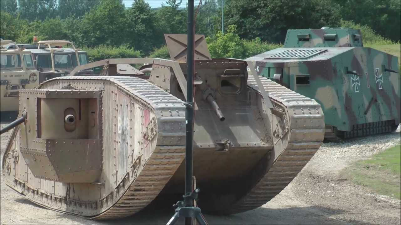 German and British WW1 tanks in action. - YouTube