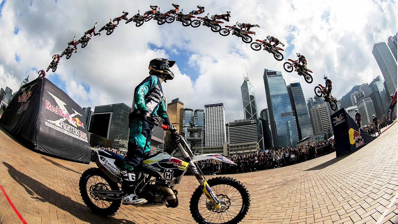 Hong Kong Iphone X Wallpaper High Flying Fmx Tricks In Hong Kong Red Bull X Fighters