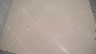 Укладка плитки по диагонали ч.4(дополнение)(В ролике показан конечный результат и общий вид,после работ по укладке плитки по диагонали,в ванной комнате..., 2015-04-14T05:16:19.000Z)