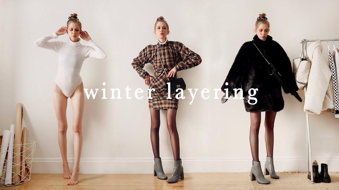 [VIDEO] - LAYERING WINTER OUTFITS // cold weather –(using farfetch, stella mccartney, basics, vegan outerwear) 3