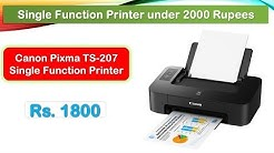Best Printer for Home Use under 2000 Rupees (हिंदी में) | Canon Pixma TS-207 Printer