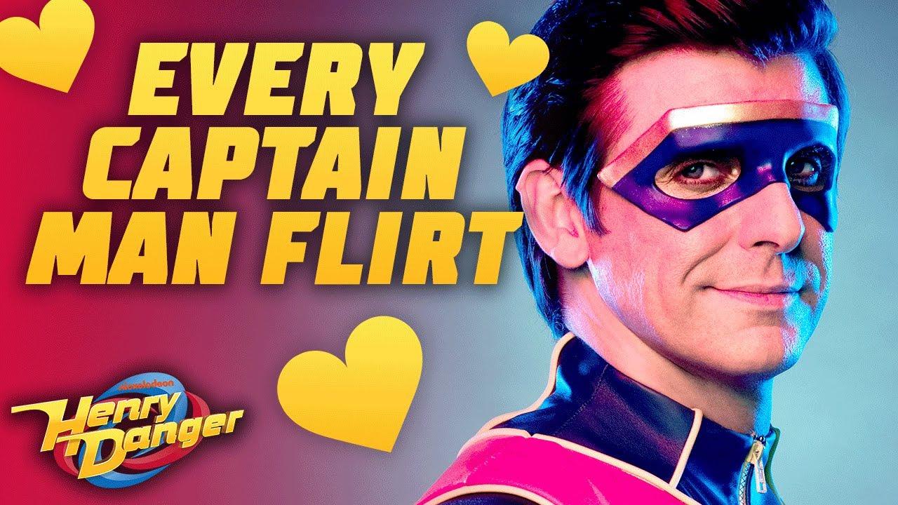 Every Time Captain Man FLIRTS 😍! | Henry Danger
