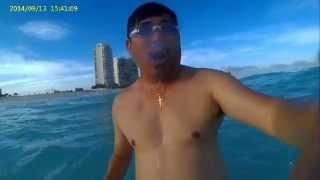 vivitar dvr 787hd underwater test cancun beach mexico
