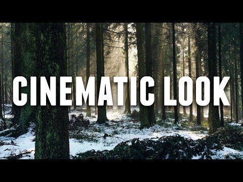 Get the CINEMATIC LOOK INSTANTLY!