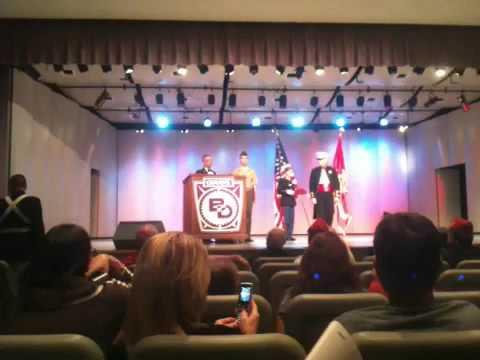 Ben Davis ROTC ceremony