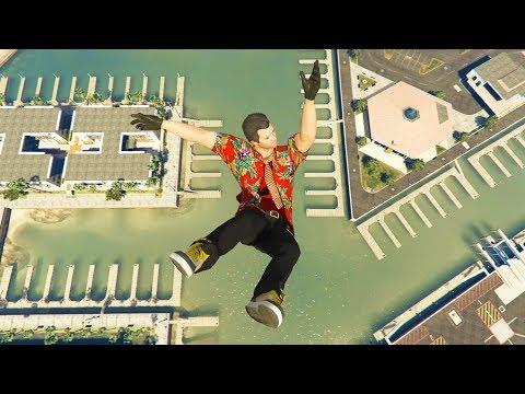 GTA 5 Jumps/Falls Ragdolls Compilation #8 (Euphoria physics - Funny Moments) thumbnail