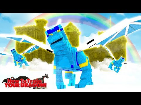 FLYING TO THE AIR NATIONS BASE IN THE SKY - Minecraft HOW TO TRAIN YOUR DRAGON