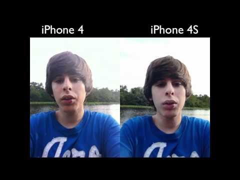 iPhone 4S NEW Front Facing Camera (Demo vs. iPhone 4)