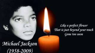 In Memory of Michael Jackson - Gone Too Soon (with Lyrics)