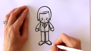 How to Draw a Cartoon Prince William, Duke of Cambridge - New Zealand Tour 2014