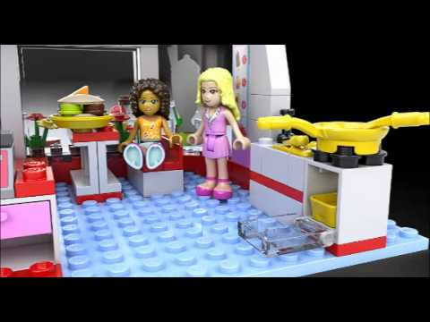 Lego Friends City Park Cafe Lego 3d Review Youtube