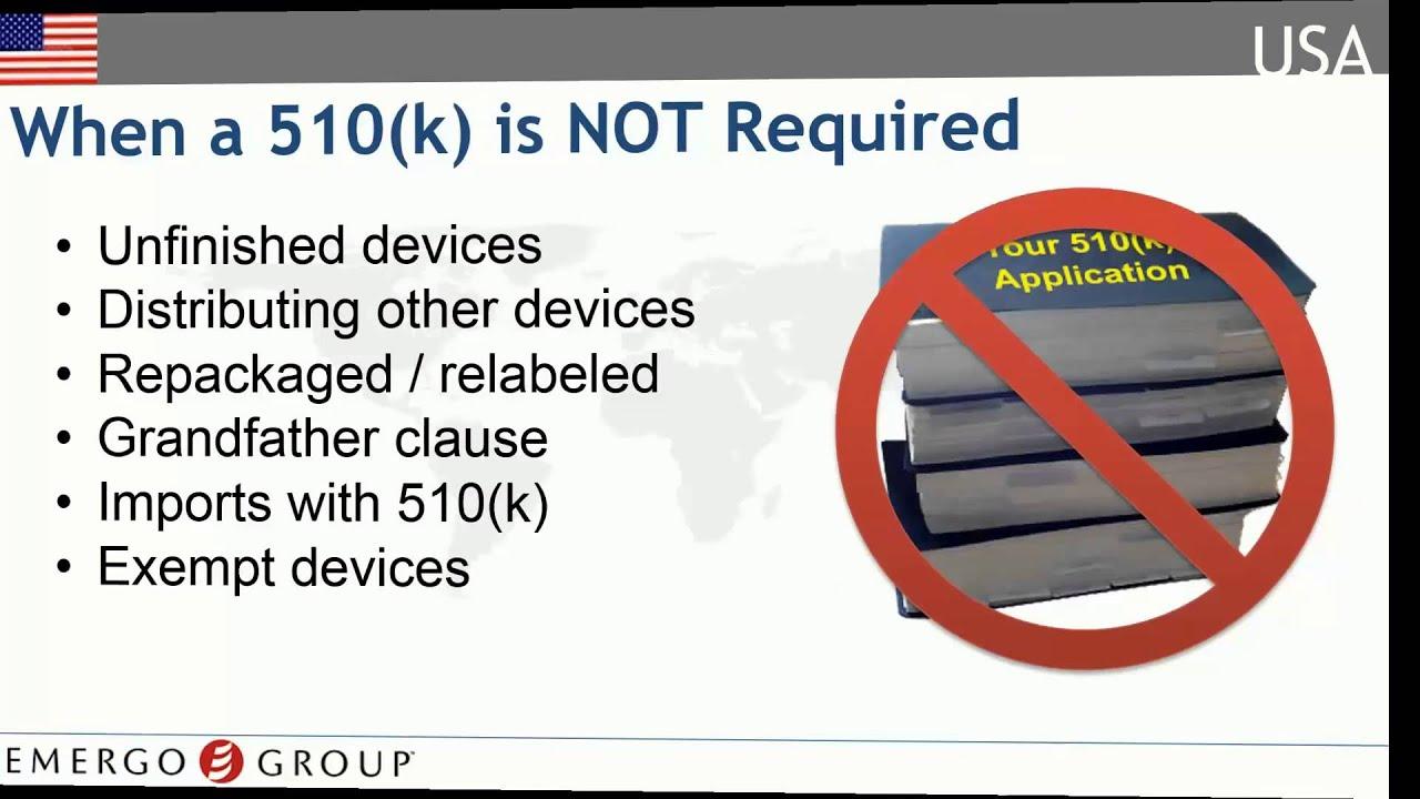 United States Medical Device Registration Chapter 5 - Dossier Preparation