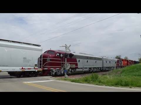 Thumbnail: Rare! Rock Island E-units Among Eight Engines on CP Freight Train