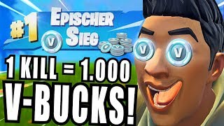 12 year old child gets 1,000 V-bucks per kill! (Fortnite Epic Victory)