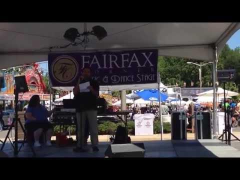 Joe competing @ the Fairfax County Employee Karaoke Competition June 6, 2014