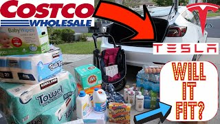 Cargo Tesla Model 3 Standard Range Plus Will COSTCO Shopping And Stroller Fit?