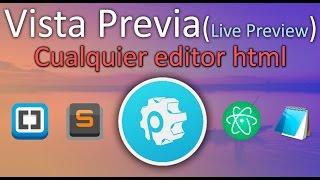 Vista previa(Live Preview) | para cualquier editor HTML | PrePros
