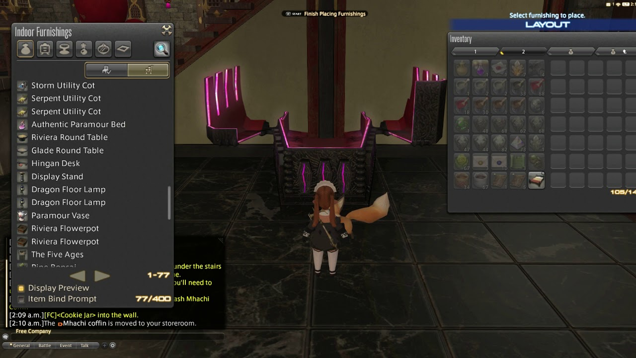 Ffxiv Housing Glitch Place Bed Under Your Stairs Youtube