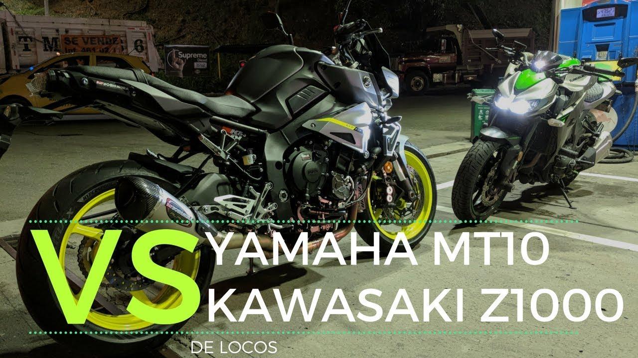 Yamaha Mt10 Vs Kawasaki Z1000 Como A Rata