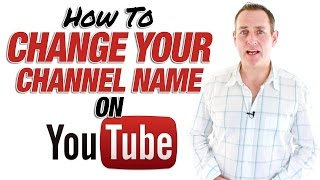 How To Change Youtube Channel Name - Update March 2015