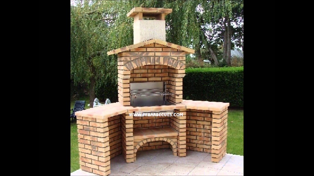 Plan De Foyer Exterieur En Brique : Fabrication fours et barbecues youtube