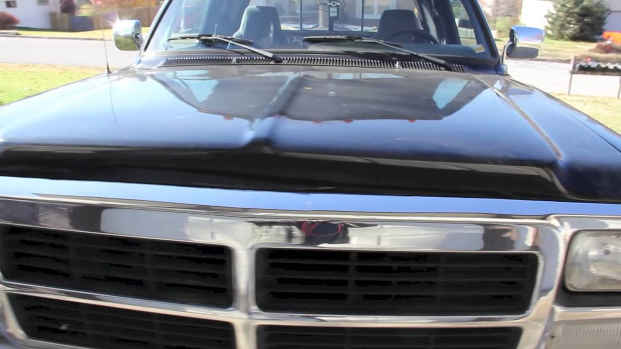 1992 Dodge W150 4x4 4wd 318 Auto Transmission Extended Cab - YouTube