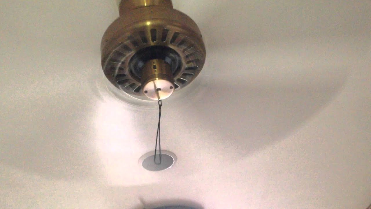 "Hunter ""Quiet Breeze"" ceiling fan in the hallway s a workout"