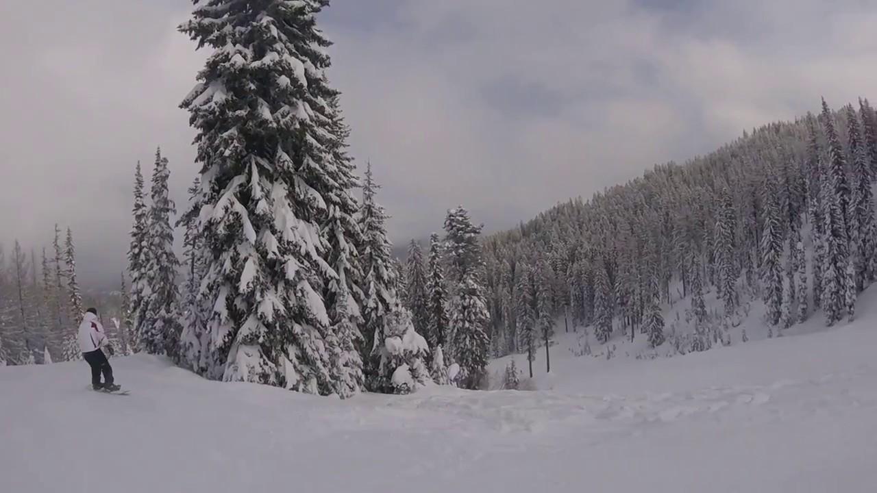 bluewood ski area 2017 - youtube