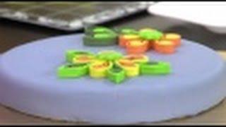 Como Decorar Pasteles con la Técnica de Quilling- filigramas -Hogar Tv  por Juan Gonzalo Angel